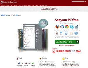 PortableApps.com Home Page Screenshot